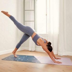 Anthropologie Blue Motif Travel Yoga Mat